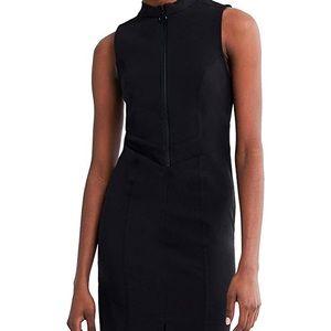 🌱NWT Zara sleeveless black zip up dress size sm
